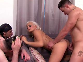 Horny Mistress Puts Mask With Strapon On SlaveS Face And Starts Riding It
